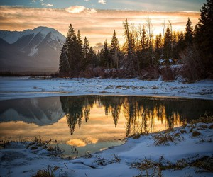 nature, snow, and mountains image