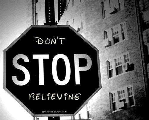 stop, believe, and disney image
