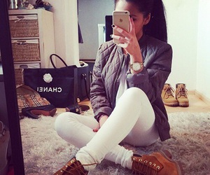 fashion, style, and timberland image