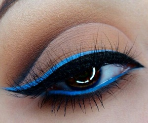 blue, make up, and eye image