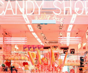 candy, candy shop, and pink image