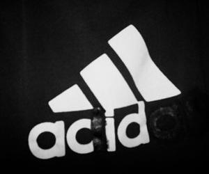 acid, black&white, and adidas image