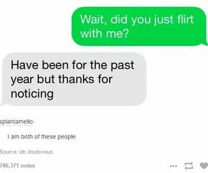 flirt, funny, and lol image