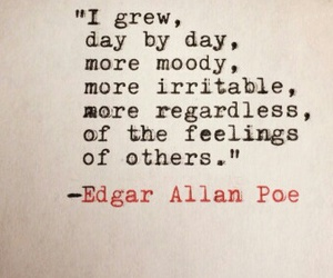 edgar allan poe, feelings, and people image