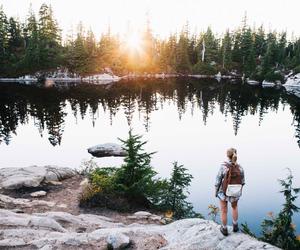 travel, lake, and nature image