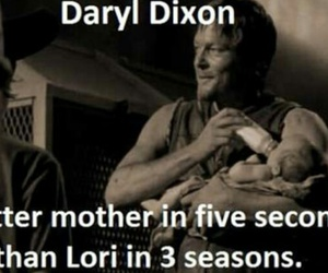 dead, daryl, and judith image