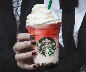 starbucks, food, and red image
