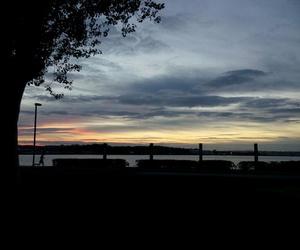 beautiful, sunset, and blue image
