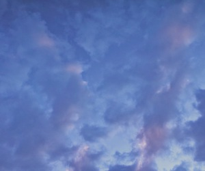 angels, clouds, and periwinkle image