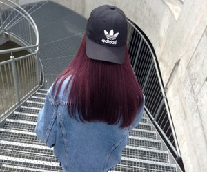 adidas, hair, and grunge image