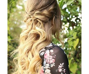 style, braid, and curls image