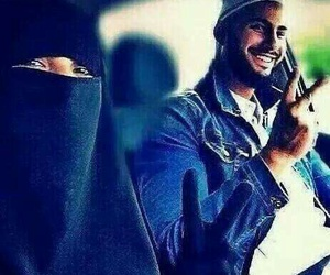 niqab, hlel, and couple image