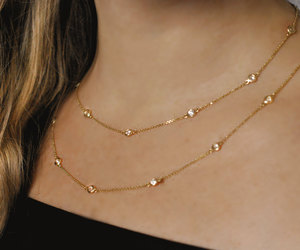 etsy, gold necklace, and jewelry image