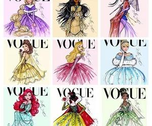 princess, disney, and vogue image
