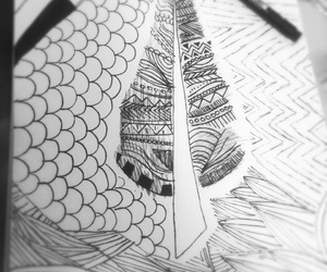 black and white, zentangle, and black and whiye image