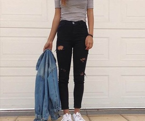 black, girl, and jean image