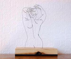 art, wire, and woman image