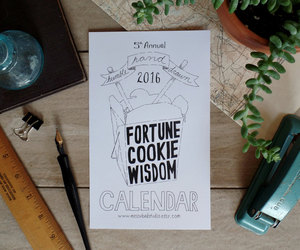 calendar, chinese food, and etsy image