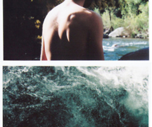 man and water image