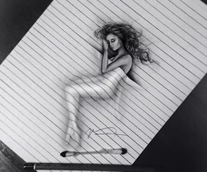 art, sleep, and black and white image