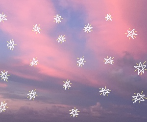 stars, sky, and pink image