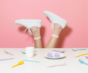 pink, pastel, and shoes image