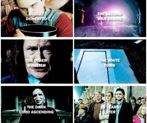 harry potter, seven books, and first and last chapters image