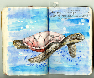 wreck this journal, keri smith, and sea image