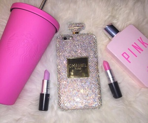 pink, chanel, and iphone image