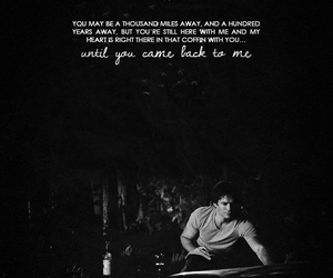 tvd, black and white, and ian somerhalder image