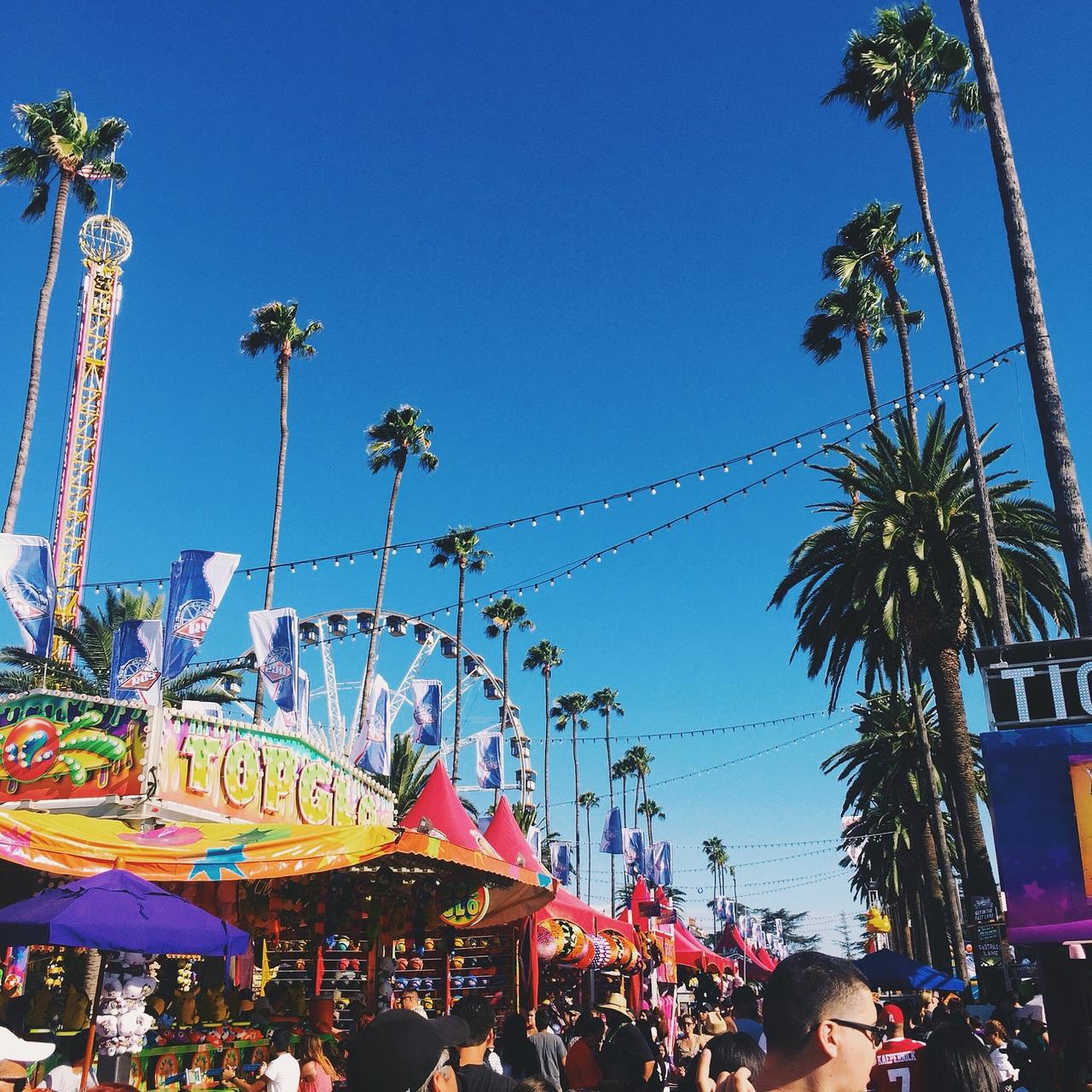 cali, california, and carnival image