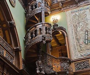 stairs, castle, and romania image