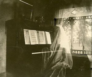 piano, ghost, and music image