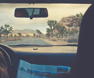 car, travel, and map image