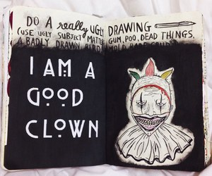 american horror story, art, and clown image
