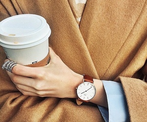 fashion, coffee, and watch image