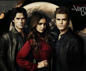 the vampire diaries, elena, and ian somerhalder image