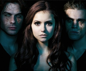 the vampire diaries, stefan, and Nina Dobrev image