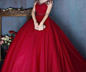 girl, burgundy, and dress image