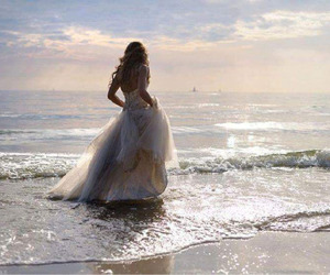 dress, sea, and beach image