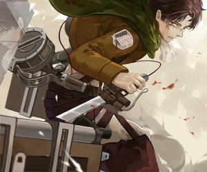 snk, attack on titan, and levi image