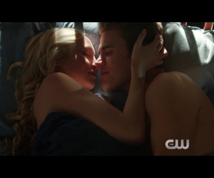 couple, kiss, and the vampire diaries image