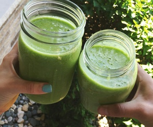 smoothie, food, and green smoothie image