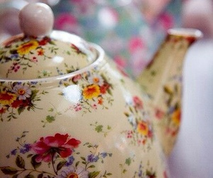 teapot, floral, and girly image
