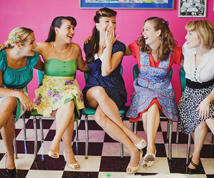 50's, dress, and girls image