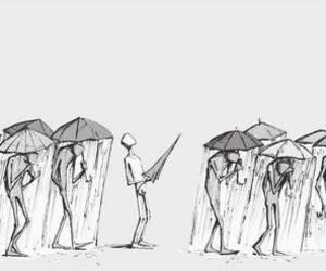 rain, umbrella, and quotes image