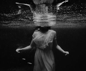 water, photography, and black and white image