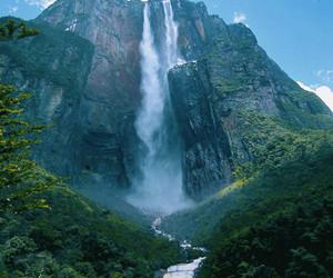 nature, waterfall, and venezuela image