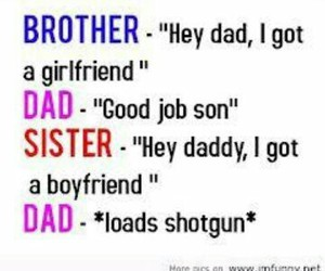 boyfriend, girlfriend, and dad image