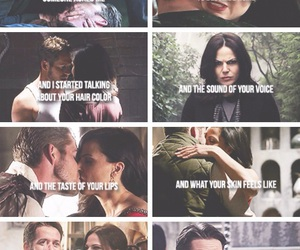 once upon a time, regina mills, and outlaw queen image
